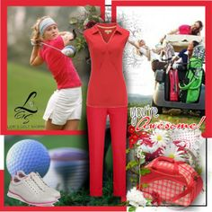 A chic golf style only seen at lorisgolfshoppe.polyvore.com Check it out now! #golf #ootd #lorisgolfshoppe