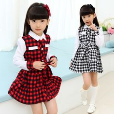 Cheap dress plaid, Buy Quality dress colors directly from China dress ethnic Suppliers: Arrival Kids Girls Cotton Plaid Dress Little Girl Party Dress Baby Girl Long Sleeved Princess Dress With Bo Baby Girl Party Dresses, Baby Dress, Girls Dresses, Flower Girl Dresses, Fashion Kids, Toddler Fashion, Plaid Dress, Shirt Dress, Cheap Dresses