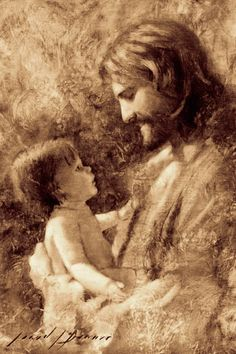 For Such Is The Kingdom Pictures Of Jesus Christ, Jesus Christ Images, Jesus Art, Catholic Art, Religious Art, Catholic Prayers, Arte Lds, Lds Art, Jesus Painting