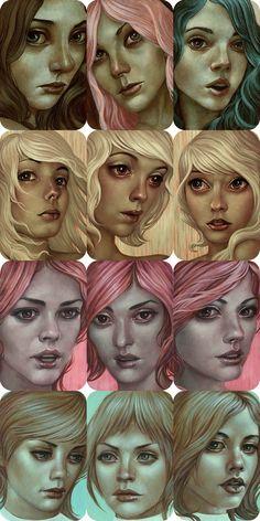 Nice girl portraits by Casey Weldon