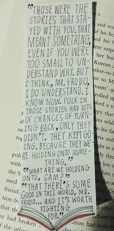 Lord of the Rings Bookmark that I absolutely love!