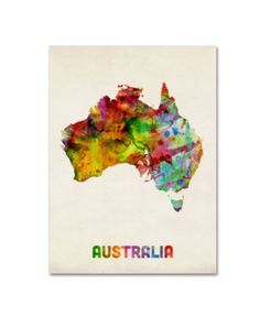 Australia Map Digital Art - Australia Watercolor Map by Michael Tompsett Map Canvas, Canvas Wall Art, Canvas Prints, Wall Mural, Australia Map, Australia Tattoo, Space Australia, Art Carte, Painting Prints