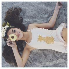 Pineapple Bathing Suit - Khia Lopez - www.weresofancy.com