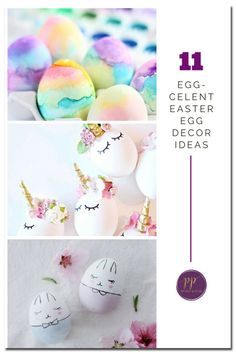 Awesome collection of Easter egg tutorials. Covers everything: dying Easter eggs, painting Easter eggs, watercolor Easter eggs, and decoupage Easter eggs!