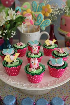 Cupcakes jardim