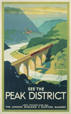 Travel Poster for the Peak District