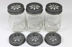 Crafty Basics Daisy Cut Mason Jar Lids - Crafty Steals- $4.49/6!!!
