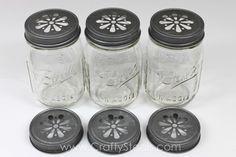Crafty Basics Daisy Cut Mason Jar Lids - Crafty Steals- $4.49/6!!!