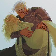 """Rowan Whitethorn and Aelin Ashryver Galathynius from """"Throne of Glass"""" by Sarah J Maas Drawn in Photoshop with a Wacom Intuos Tablet. Throne Of Glass Fanart, Throne Of Glass Books, Throne Of Glass Series, Queen Of Shadows, Rowan And Aelin, Crown Of Midnight, Empire Of Storms, Sarah J Maas Books, A Court Of Mist And Fury"""