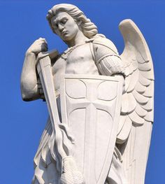 """St. Michael the Archangel guarding the """"Capilla del Cerrrito"""" (or """"Chapel of the Little Hill"""") where Our Lady of Guadalupe appeared to St. Juan Diego on Tepeyac Hill in Mexico City."""