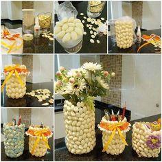 DIY Pencil Holder and Vase with Pistachio Shells  https://www.facebook.com/icreativeideas