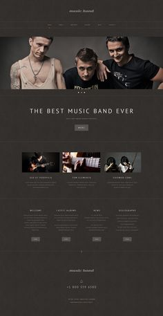 Music Band Responsive WordPress Theme #48980