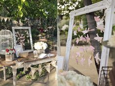 Farmhouse Chic Winery Wedding Ruffled - love the bridesmaids, flowers and guestbook.
