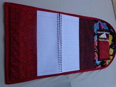 DeCoração Costura Artística: Capa de caderno vibrante