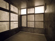 Do Ho Suh rubbing/loving project: company housing of gwangju theater, 2012 graphite on paper, wooden structure, video monitor and player, speaker x x inches / 368 x 273 x 292 cm Do Ho Suh, Gwangju, Black And White Design, Korean Artist, Thesis, Graphite, Monitor, Theater, Scale