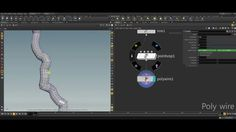 Houdini poly wire node tutorial (RUS)