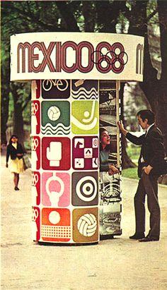 Mexico 1968 Olympic Event Signage - Lance Wyman & Eduardo Terrazas