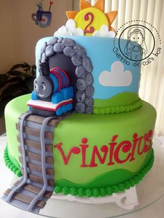 Home Decorating Style 2019 for 35 Best Thomas the Train Birthday Cake Papelpintado, you can see 35 Best Thomas the Train Birthday Cake Papelpintado and more pictures for Home Interior Designing 2019 at Para el cumpleaños. Thomas Birthday Cakes, Thomas Birthday Parties, Thomas Cakes, Thomas The Train Birthday Party, 2 Birthday Cake, Trains Birthday Party, Train Party, Third Birthday, Birthday Ideas