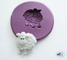 Sheep Mold Farm Animal Mold Silicone Mold by BlueGoatStudio Easy Diy Crafts, Crafts For Kids, Kawaii Crafts, Sheep And Lamb, Printing On Burlap, Do It Yourself Crafts, Clay Figures, How To Make Wreaths, Silicone Molds