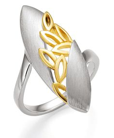 silver and gold ring, really stunning