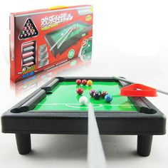 Free Shipping Mini Pool Table Game Toy Kids Table Top With Accessories Board Games Gift  K5BO