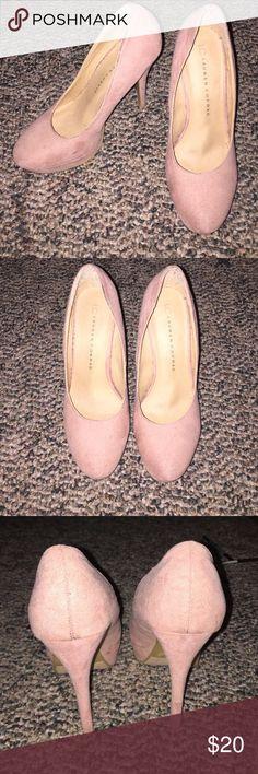 Lauren Conrad heels Dusty pink. Faux suede. 5 inch heels. Worn once at my high school graduation. Willing to negotiate price:) Lauren conrad Shoes Heels