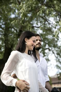 Prince Carl Philip and his fiancée Sofia Hellqvist during an interview to the Swedish newspaper Dalarnas Tidning, 06.07.2014