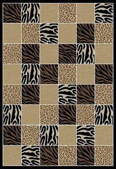 ANIMAL CARPET 5x8 LARGE SAFARI AREA RUG -5'3x7'7 - http://home-garden.goshoppins.com/rugs-carpets/animal-carpet-5x8-large-safari-area-rug-53x77/