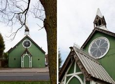 I dream to live in a church converted into a house.