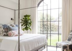 Bedroom Palladian Window with Oly Studio Marco Bed - Transitional - Bedroom - Home Decor Ideas Master Bedroom Design, Home Bedroom, Bedroom Ideas, Modern Bedroom, Bedroom Wall, Stylish Bedroom, Modern Wall, Master Suite, Dream Bedroom