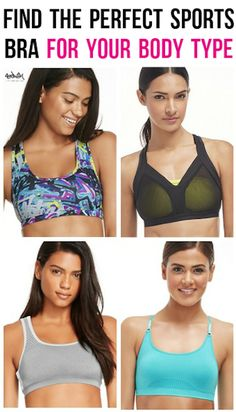 The best guide to finding a sports bra that fits your body type (and for every activity)!