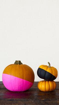 diy color blocked pumpkins
