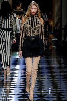 Balmain Parigi - Collections Fall Winter - Shows - Vogue. Fall Fashion 2016, Fashion Week, Star Fashion, Paris Fashion, Love Fashion, Runway Fashion, High Fashion, Winter Fashion, Fashion Show