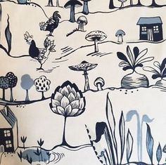 Prestigious-Textiles-Allotment-Cornflower-Blue-Garden-Cotton-Fabric-Per-Metre