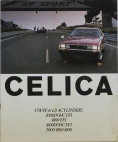 Japanese Brochure TOYOTA CELICA Sales Classic Car Catalog Vintage jr73