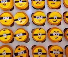 Minion themed Happy Birthday Cupcakes