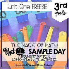 When Hope and I began creating the Magic of Math monthly units, we had a lot of discussions about what we wanted it to look like. Math Stations, Math Centers, Rounding Numbers, Amy Lemons, Math Blocks, Math Problem Solving, Third Grade Math, Math Workshop, Free Math