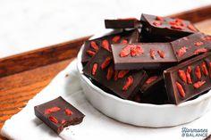 Homemade Chocolate with Goji Berries and Chili Powder Dessert Recipe