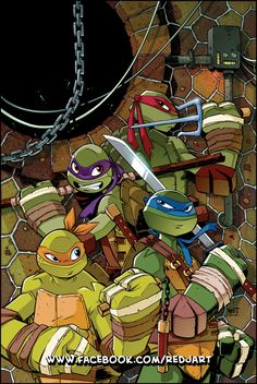 TMNT Animated 9 Cover Art by Red-J.deviantart.com on @deviantART