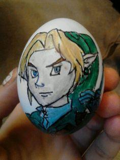 Link Easter Egg for Nintendo Nerds.  Sharpie art!!!
