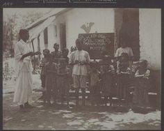 "1904 image of an ""Adi Dravida"" School at Manjalpadpu, Puttur #Karnataka (Basel Mission Archives)"