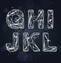 Constellation Geometric Font G-L photo