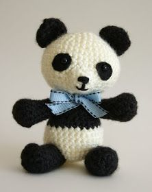 Angie's Art Studio: Pablo the Playful Panda - amigurumi crochet - free pattern! Crochet Panda, Crochet Bear, Crochet Patterns Amigurumi, Crochet Animals, Crochet Toys, Free Crochet, Knitting Blogs, Stuffed Animal Patterns, Panda Bear