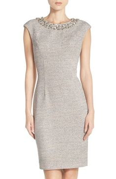 $198.00 Eliza J Embellished Sparkle Knit Sheath Dress (Regular & Petite) available at #Nordstrom