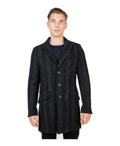 Cappotto monopetto misto lana, sfoderato - tre tasche frontali e un taschino in alto a sinistra - due taschini interni - - Cappotto uomo  Blu