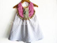 Girl Dress/Boho Chic Abito festivo Baby / Baby vestiti/Pom Pom