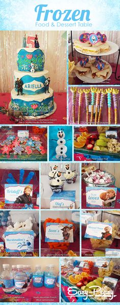 Frozen Party Table Frozen Dessert Table Frozen Food Table