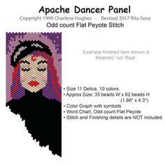 Apache Dancer Panel   Bead-Patterns.com