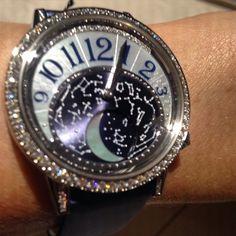 Instagram media thejewelleryed - Night sky on the wrist @jaegerlecoultre #mysihh #sihh2015 #luxurywatch #moon