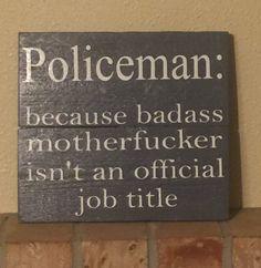 Policeman job title www.facebook.com/farmhouseclutter